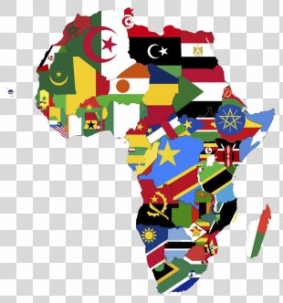 Africa Continent National Flag Map - Africa PNG