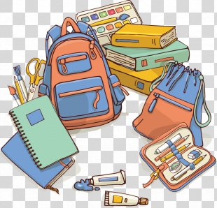 Cartoon Poster Illustration - Poster Book Bag Creative Learning Elements PNG