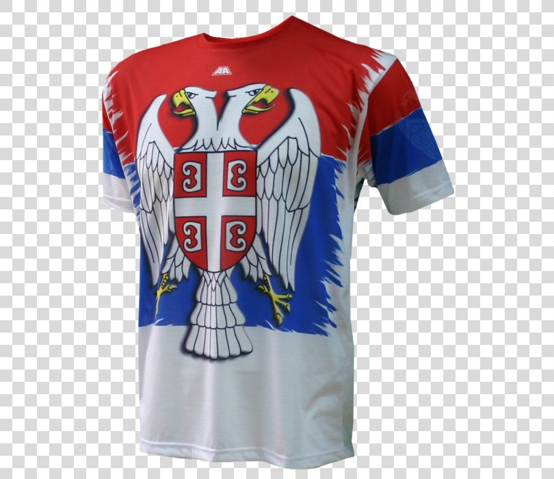 T-shirt Serbia National Football Team Sports Fan Jersey 2018 World Cup, T-shirt PNG