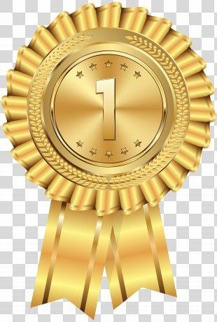 Gold Medal Clip Art - Gold Medal Transparent Clip Art Image PNG