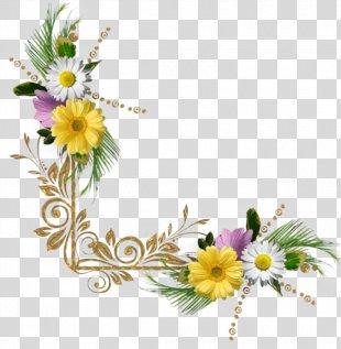 Border Flowers Clip Art - Floral Corner PNG