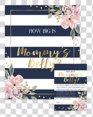 Floral Design Wedding Invitation Baby Shower Gift Party - Baby Shower Flowers PNG
