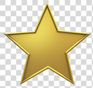 Gold Star - Gold PNG