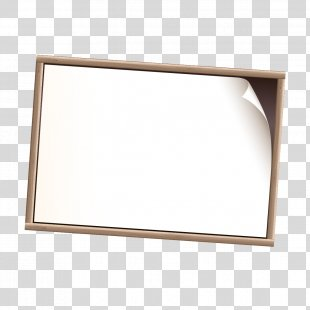 Text Rectangle Picture Frame - White Frame PNG