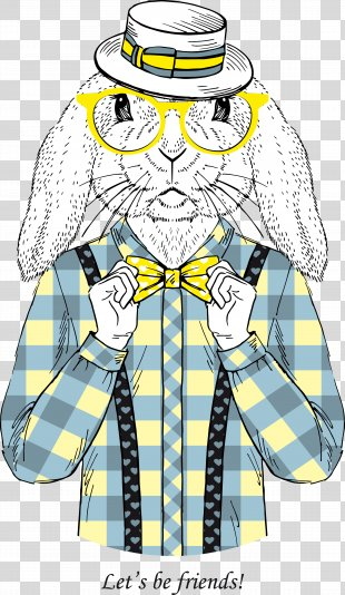 Fashion Painting Canvas Drawing - Mr. Rabbit PNG