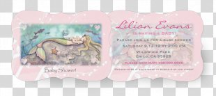 Wedding Invitation Baby Shower Convite Infant Paper - Mermaid Baby PNG
