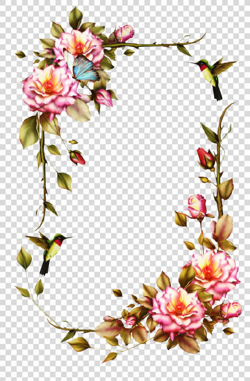 Picture Frames Flower Frame Clip Art Rose PNG, Free Download
