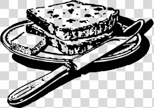 Bread Black And White Food Clip Art - Bread PNG