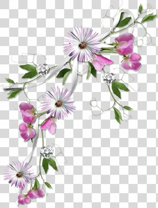 Borders And Frames Flower Clip Art - Deco PNG