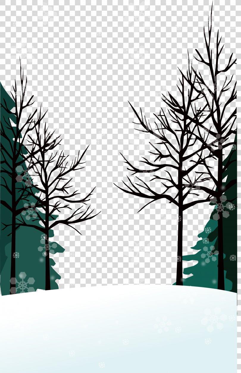 Winter Vector Wallpaper, Winter Background PNG