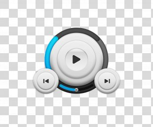 Light Blue Icon Design Icon - Simple Playback Icon Design Material PNG