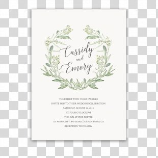 Wedding Invitation Paper Laurel Wreath - Wedding Invitation PNG