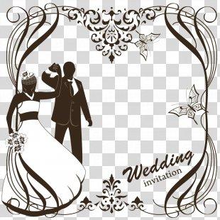 Wedding Invitation Clip Art - Wedding Greeting Card Vector Material PNG