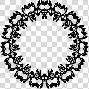 Black And White Clip Art - White Frame PNG
