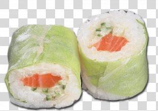 California Roll Smoked Salmon Vegetarian Cuisine Sushi 09759 - Sushi PNG