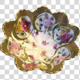 Tableware Cut Flowers Floral Design Platter - Green Hand Painted Green Leaf Floral Border PNG