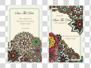 Wedding Invitation Marriage Convite Advertising - Cartoon Flowers Wedding Invitation Template PNG