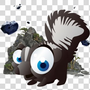 Q-version Animal Cuteness Cat - Cute Animal Cartoon Skunk PNG