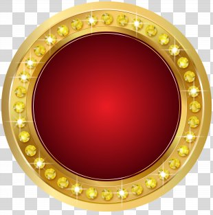 Gold Clip Art - Seal Gold Red Transparent Clip Art Image PNG