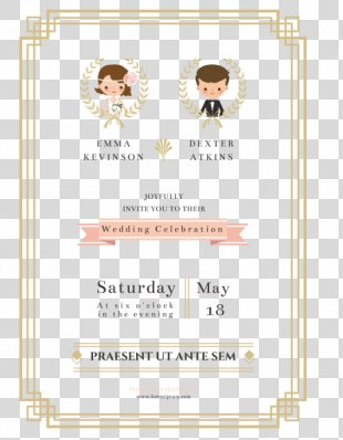 Wedding Invitation Paper Marriage - The Bride And Groom Wedding Invitation Vector PNG