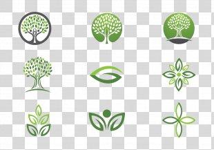 Logo Euclidean Vector Leaf Tree - Cartoon Tree Logo High-definition Buckle Material PNG