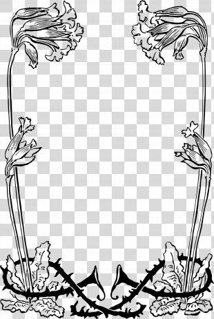 Floral Design Visual Arts - Small Floral Border PNG
