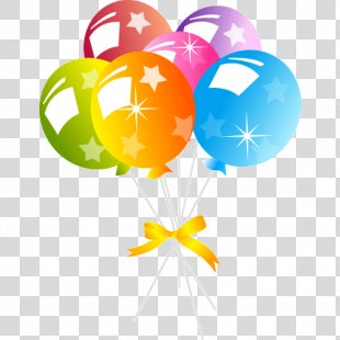 Birthday Cake Balloon Party Hat Clip Art - Birthday PNG