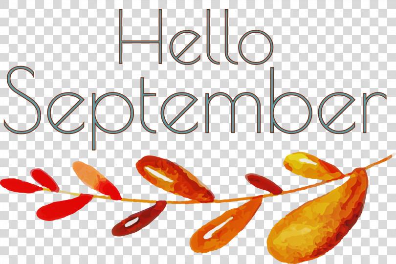 Hello September September PNG