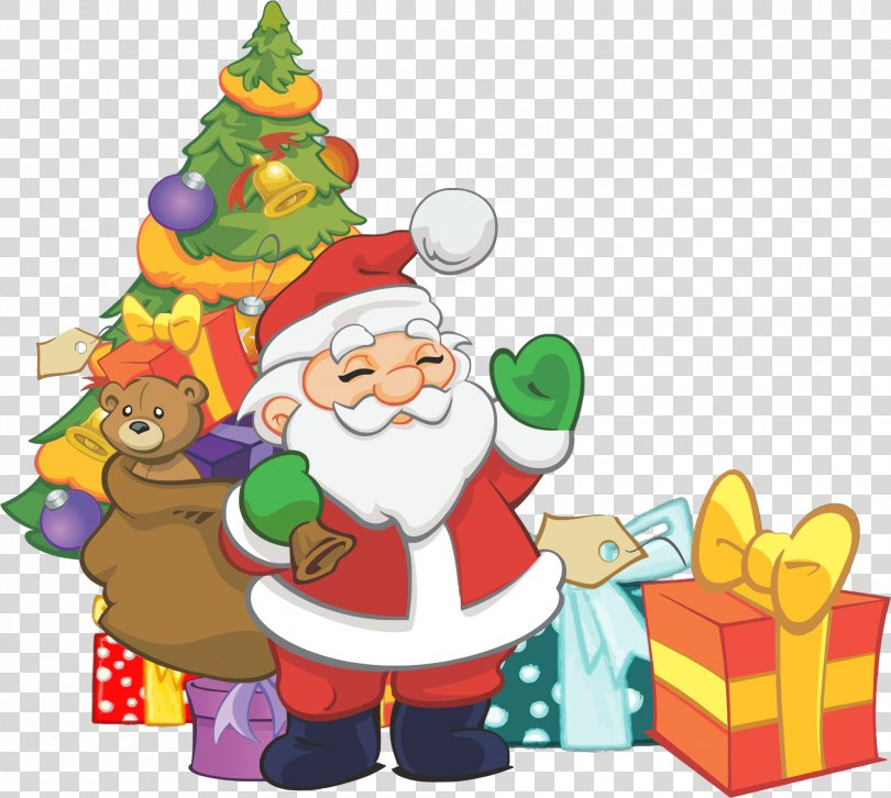 Scrooge Rudolph Gift Character Illustration, Santa Claus Gift Points PNG
