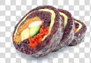 Sushi Glutinous Rice Black Rice Gimbap - Sushi PNG