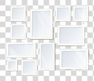 Floor Picture Frame Square, Inc. - White Frame PNG