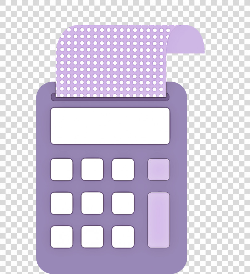 Purple Calculator Violet Office Equipment Technology PNG