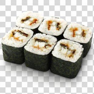 Makizushi Sushi Pizza California Roll European Eel - Roll PNG