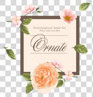Wedding Invitation Flower Euclidean Vector - Wedding Creative Vector PNG