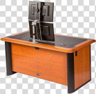 Desk Multi-monitor Computer Monitors Computer Keyboard Table - Desk Accessories PNG