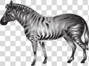 Horse Quagga Zebra Metallic Color Clip Art - Zebra PNG