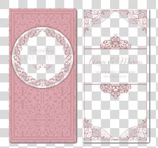 Wedding Invitation Marriage - Pink Wedding Invitation Card Vector Material PNG