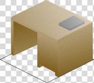 Computer Desk Isometric Projection Clip Art - Desk PNG