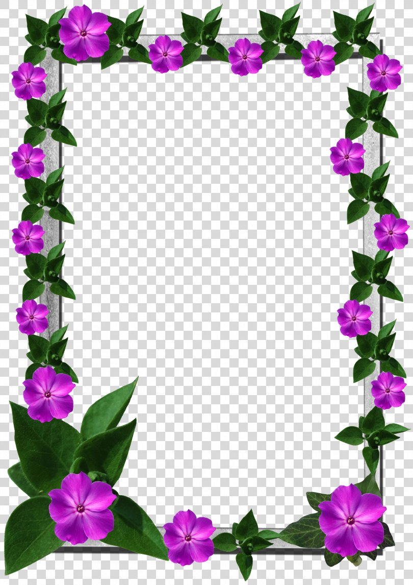 Picture Frames Flower Clip Art, Flower Frame PNG, Free Download