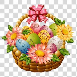 Easter Bunny Easter Basket Clip Art - Happy Easter PNG