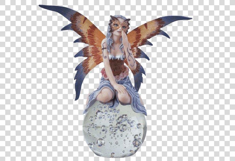 Crystal Ball Fairy Figurine Pixie, Fairy Crystal Ball PNG