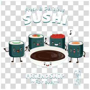Sushi Japanese Cuisine Makizushi Sashimi - Sushi PNG