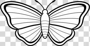 Monarch Butterfly Coloring Book Drawing Clip Art - Butterfly Clip Art PNG
