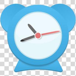 Alarm Clock Electric Blue - Alarm Clock PNG