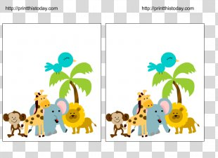 Baby Jungle Animals Wedding Invitation Baby Shower Game Infant - Birthday Invitation PNG