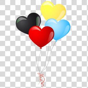 Balloon Heart Clip Art - Balon PNG