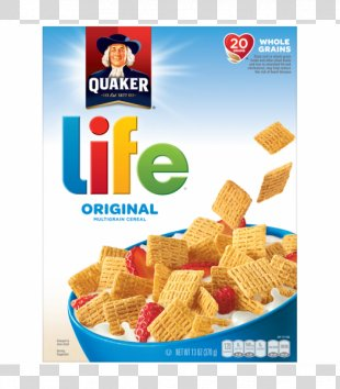 Breakfast Cereal Life Whole Grain Quaker Oats Company - Breakfast Cereal PNG