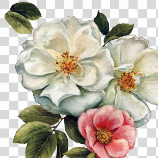 Paper Flower Painting Canvas Art - Audit PNG