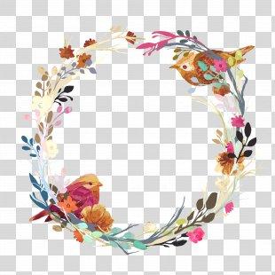 Wedding Invitation Flower Euclidean Vector Wreath - Vector Love Nest PNG