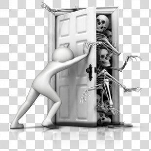 Skeleton In The Closet Idiom Clip Art - Skeleton PNG